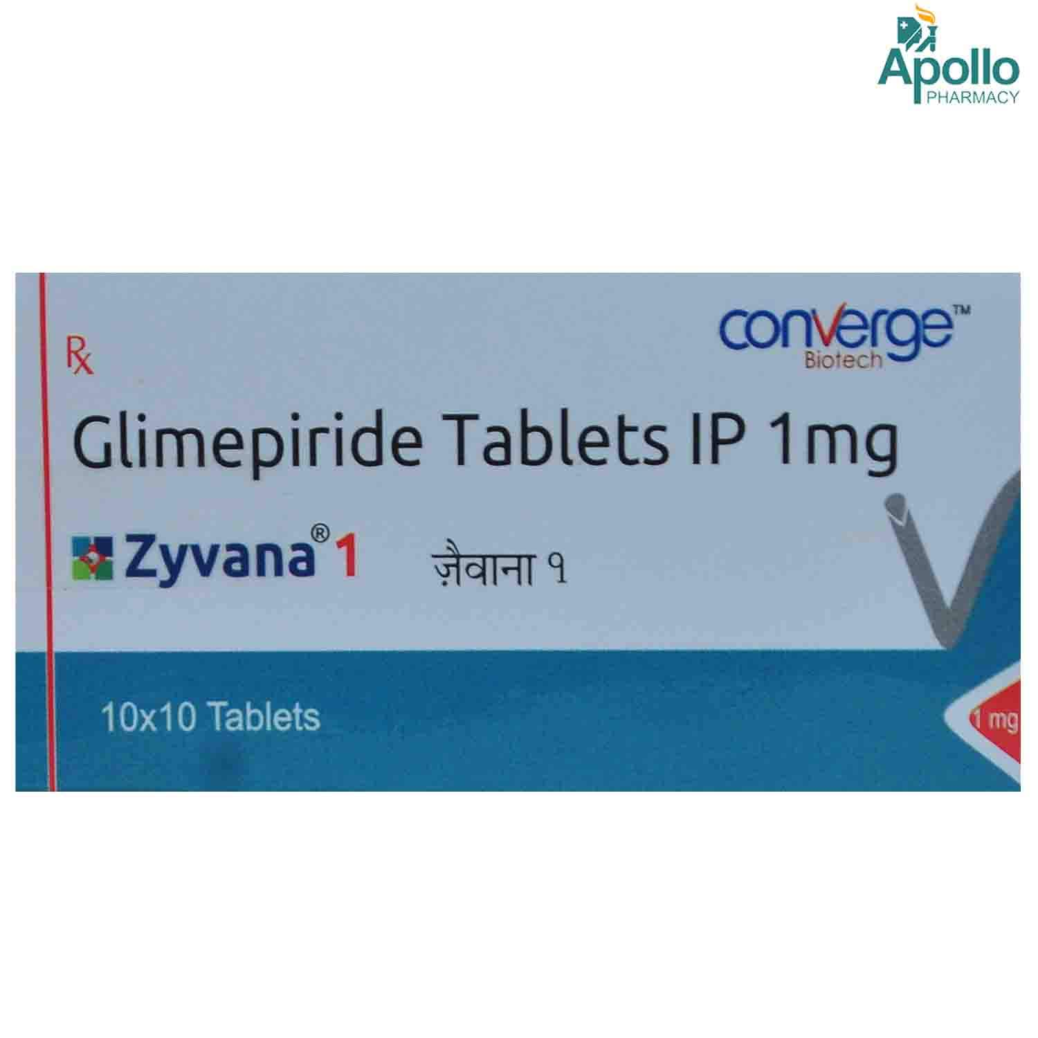 ZYVANA 1MG TABLET 10'S