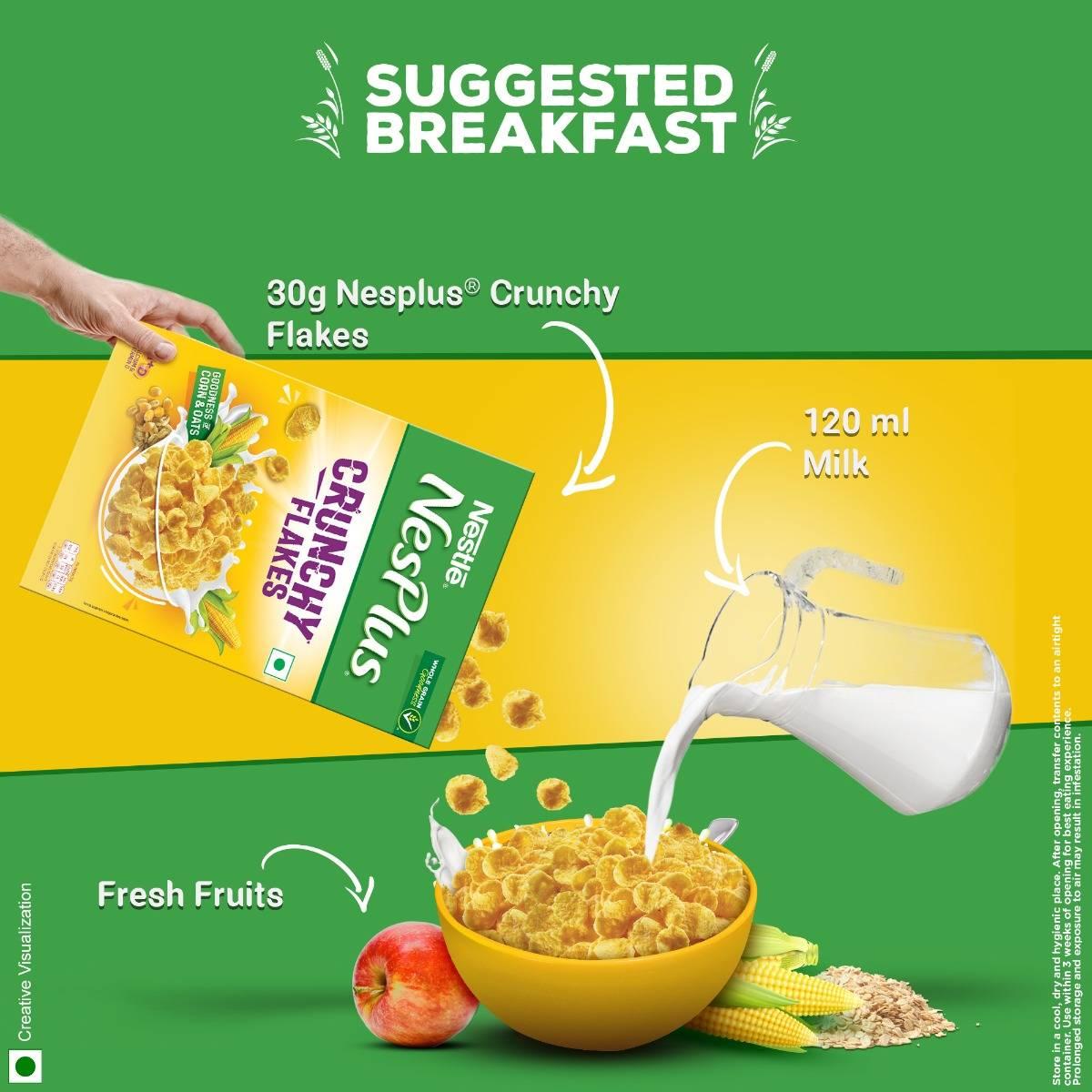 Nestle NesPlus Crunchy Flakes, 475 gm, Pack of 1