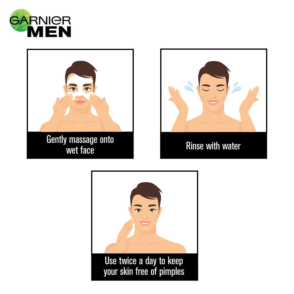 Garnier Men Acno Fight Anti-Pimple Face Wash, 50 gm, Pack of 1