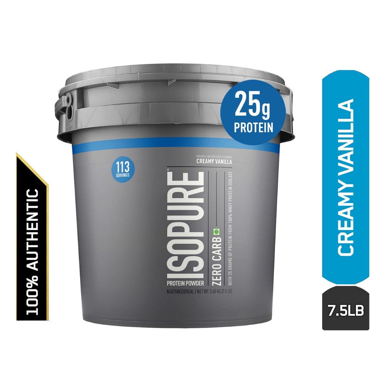 Nature's Best Isopure Zero Carb Creamy Vanilla 7.5 lbs, Pack of 1