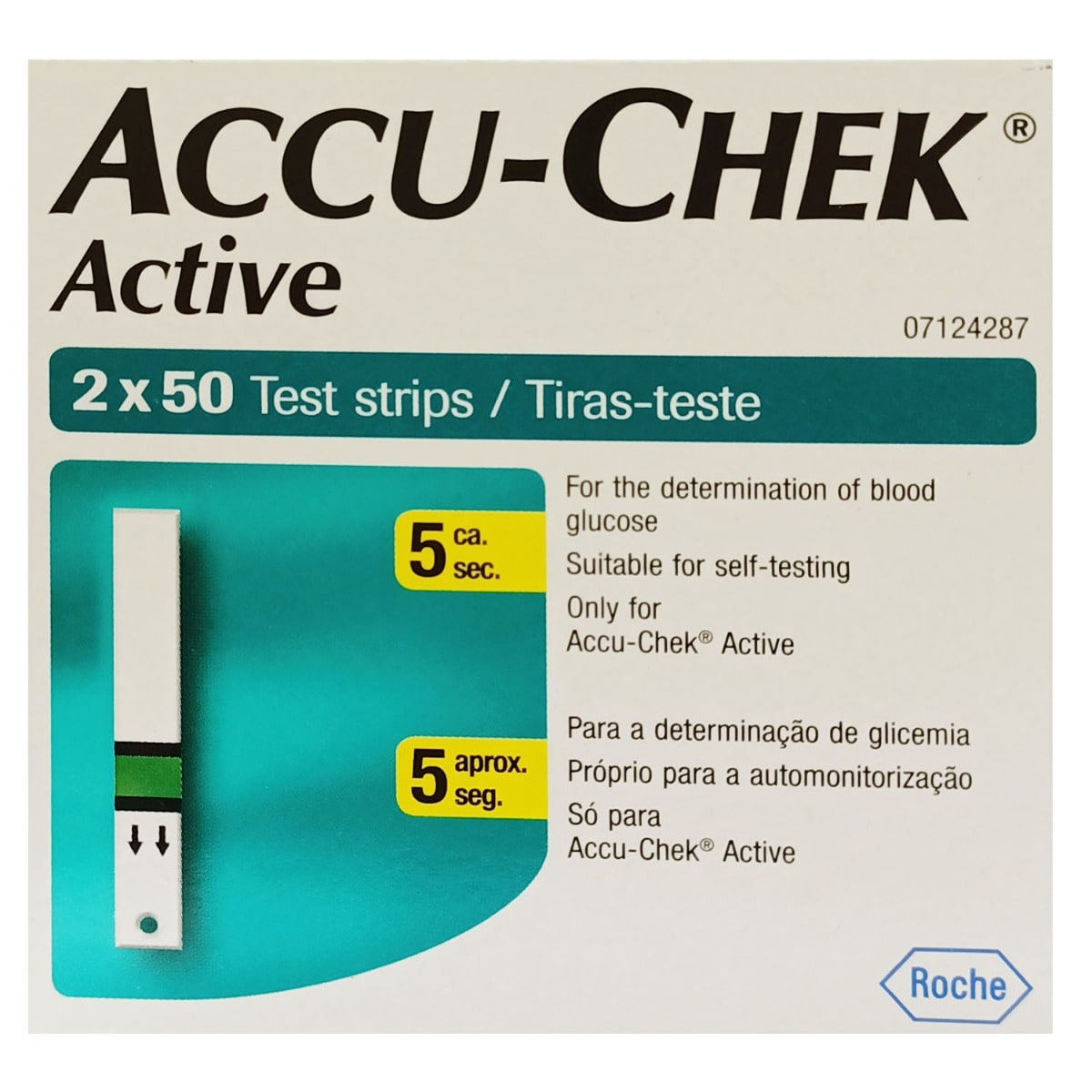Accu-Chek Active Test Strips, 100 Count, Pack of 1