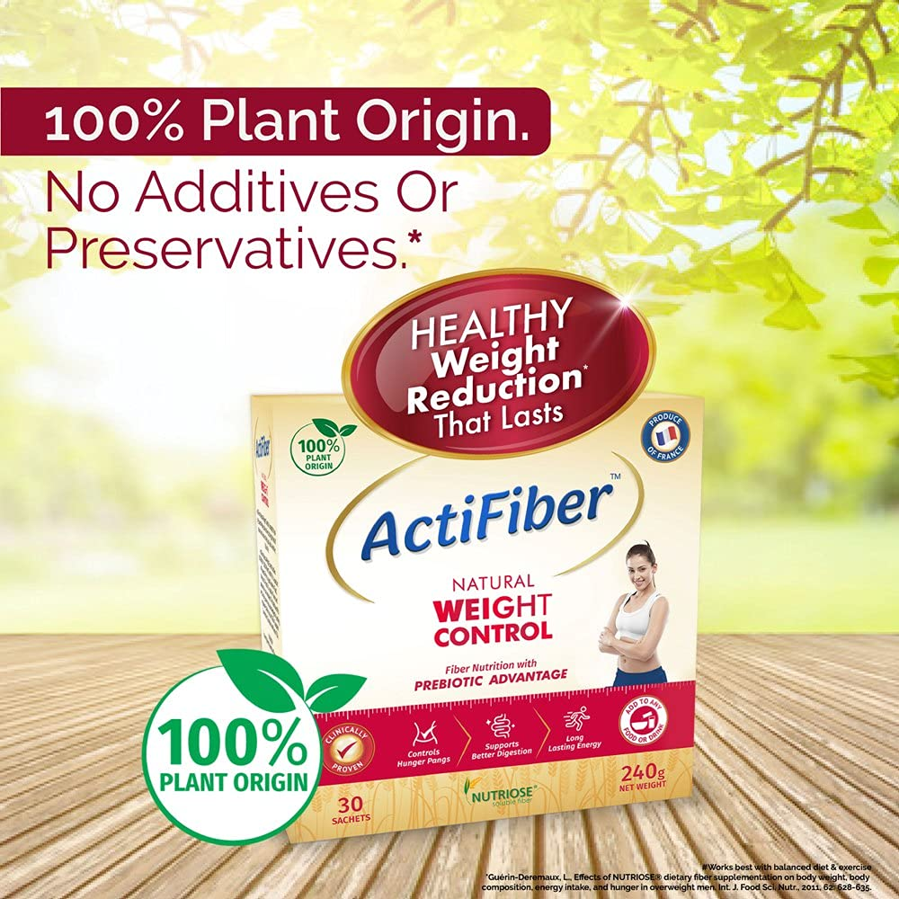 ActiFiber Natural Weight Control, 240 gm (30 sachets x 8 gm), Pack of 1