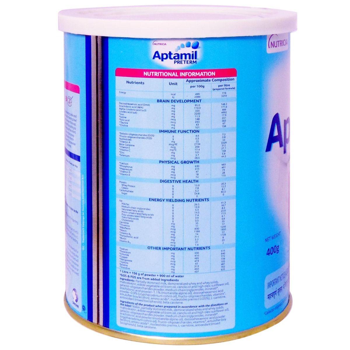 Aptamil Preterm Infant Formula, 400 gm Tin, Pack of 1