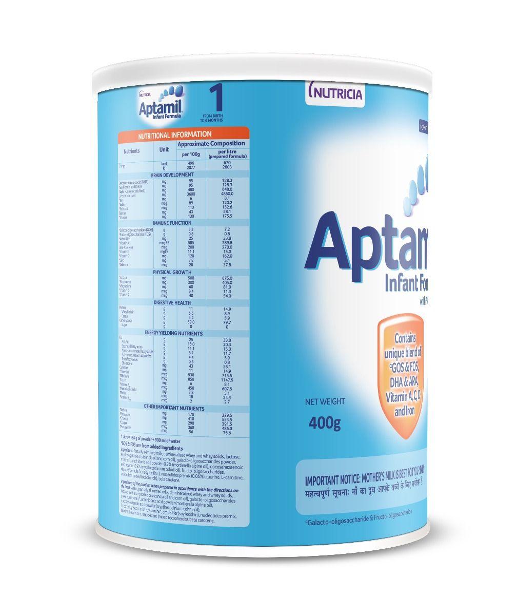 Aptamil Stage 1 Tin 400g, Pack of 1