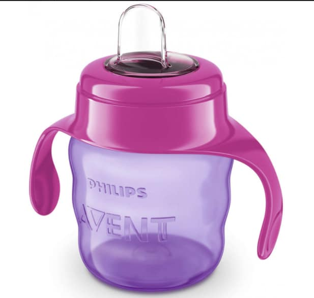 Philips Avent Spout Pink Cup Scf751/07, 6+Months, 200 ml, Pack of 1