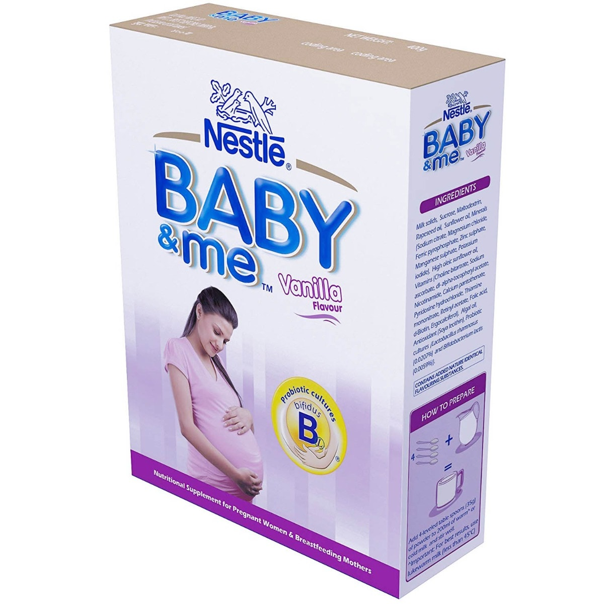 Nestle Baby & Me Vanilla Flavour Nutrition Supplement, 400 gm Refill Pack, Pack of 1