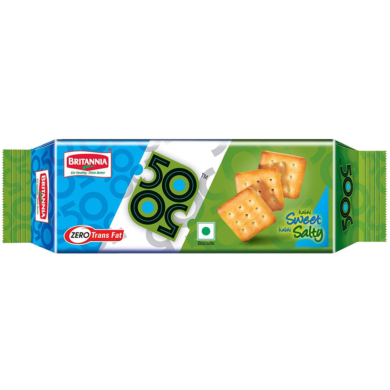 Britannia 50-50 Sweet & Salt Biscuits, 41 gm, Pack of 1