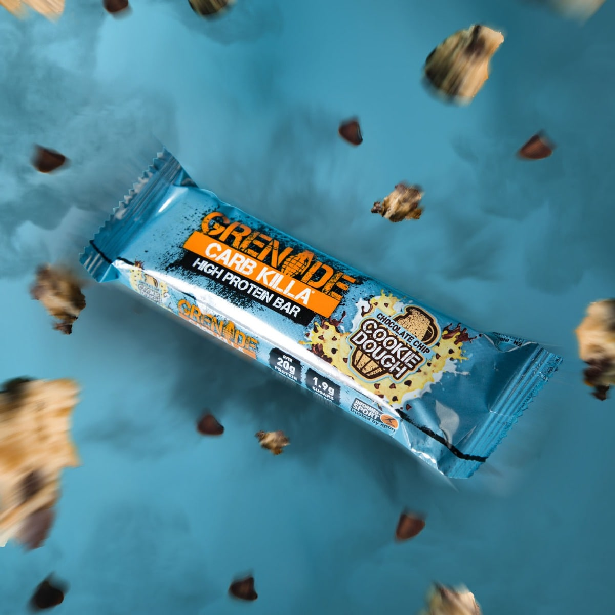 Grenade Carb Killa Chocolate Chip Cookie Dough High Protein Bar, 60 gm, Pack of 1