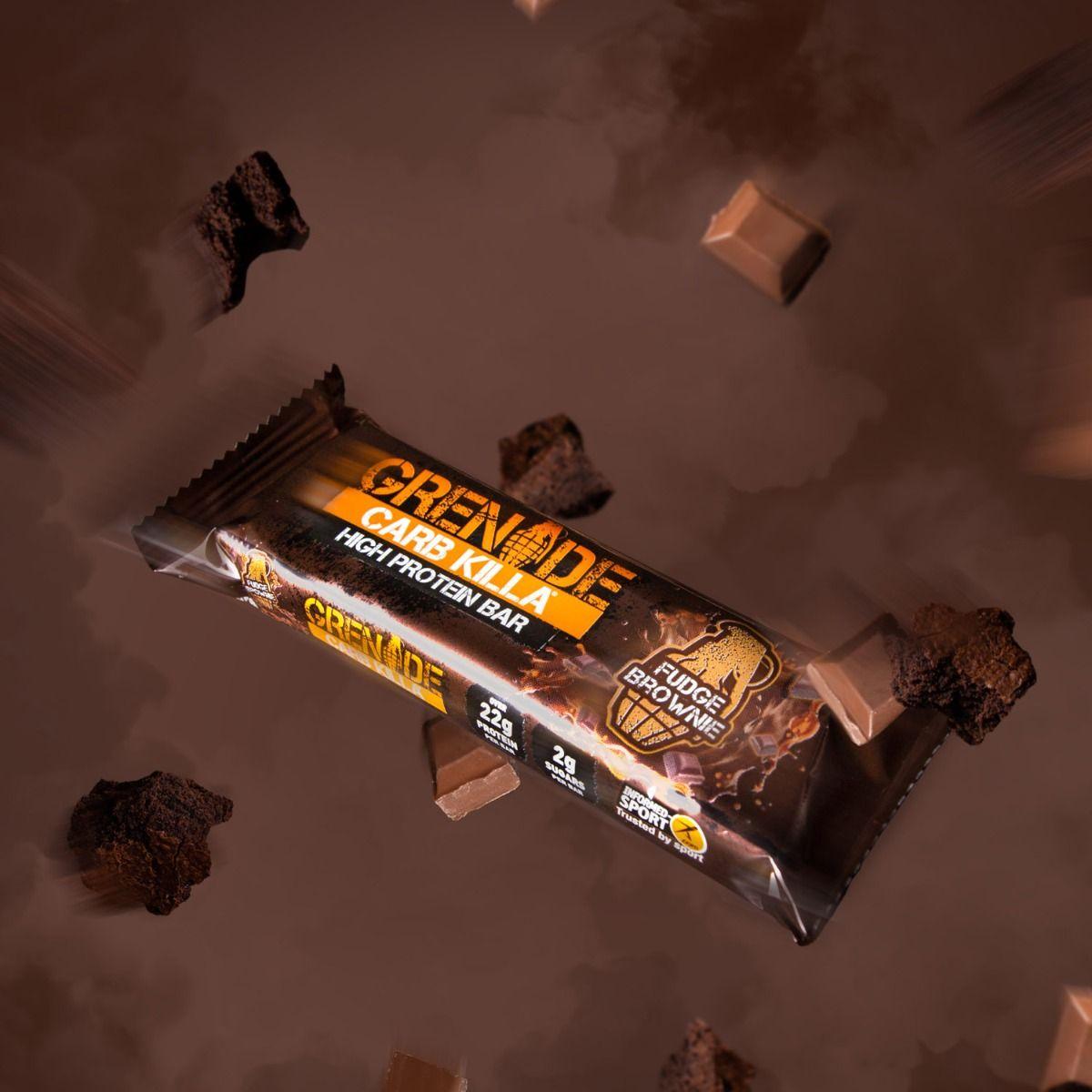 Grenade Carb Killa Fudge Brownie High Protein Bar, 60 gm, Pack of 1