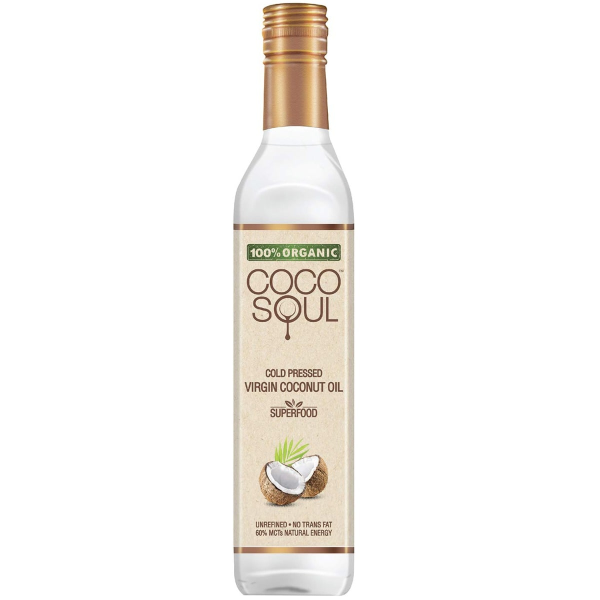 Coco Soul Cold Pressed Virgin Coconut Oil, 250 ml, Pack of 1