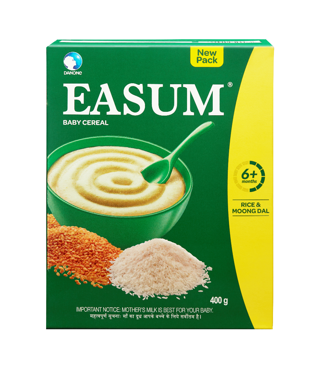 Easum Rice & Moong Dal Baby Cereal, 6 to 24 Months, 400 gm Refill Pack, Pack of 1
