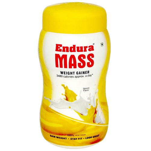 Endura Mass Banana Flavoured Powder, 500 gm Jar, Pack of 1