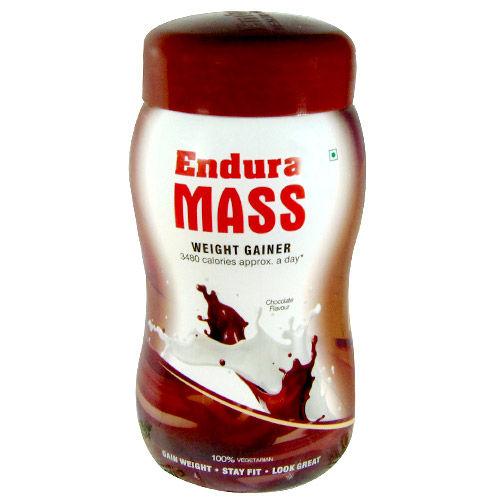 Endura Mass Chocolate Flavored Powder, 500 gm jar, Pack of 1