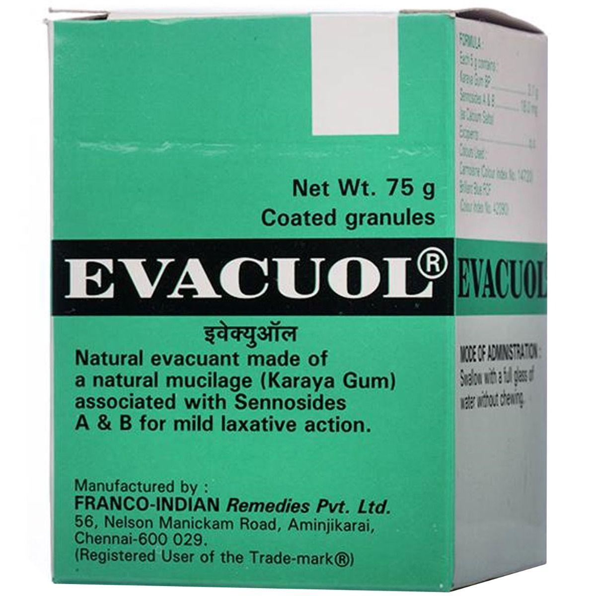 Evacuol Granules, 75 gm, Pack of 1