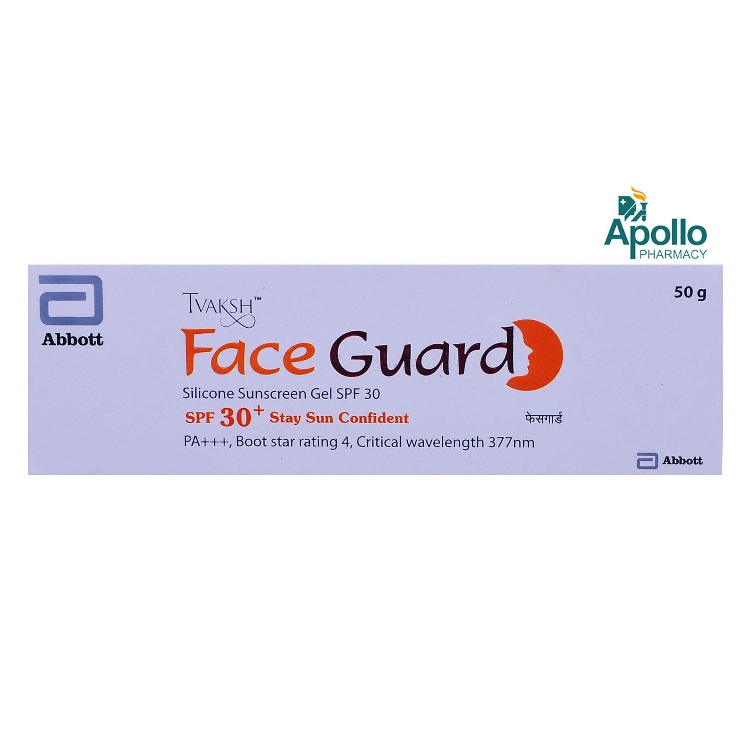 Tvaksh Face Guard Silicone Sunscreen Gel SPF 30+ PA+++, 50 gm, Pack of 1