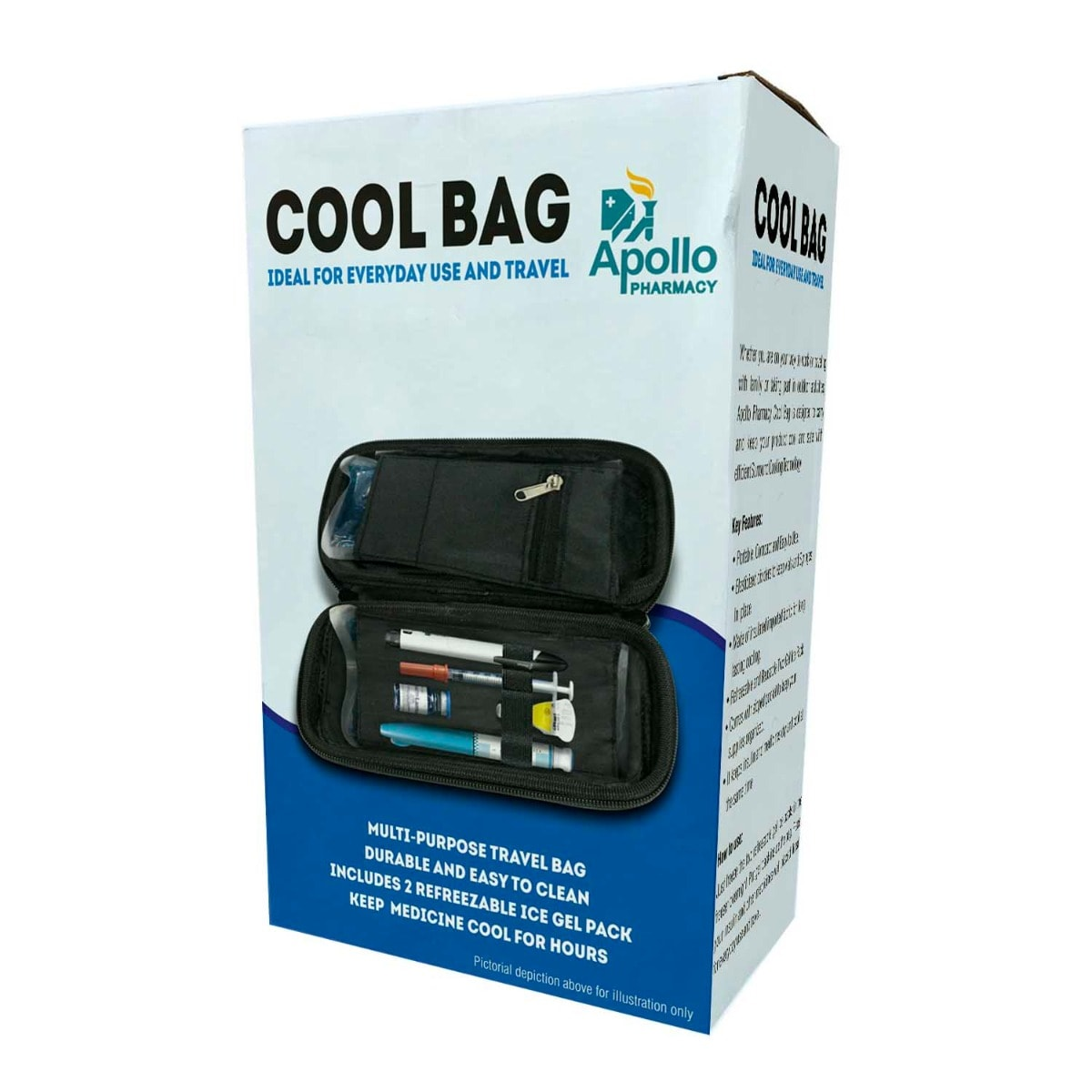 Apollo Pharmacy Cool Bag, 1 Count, Pack of 1