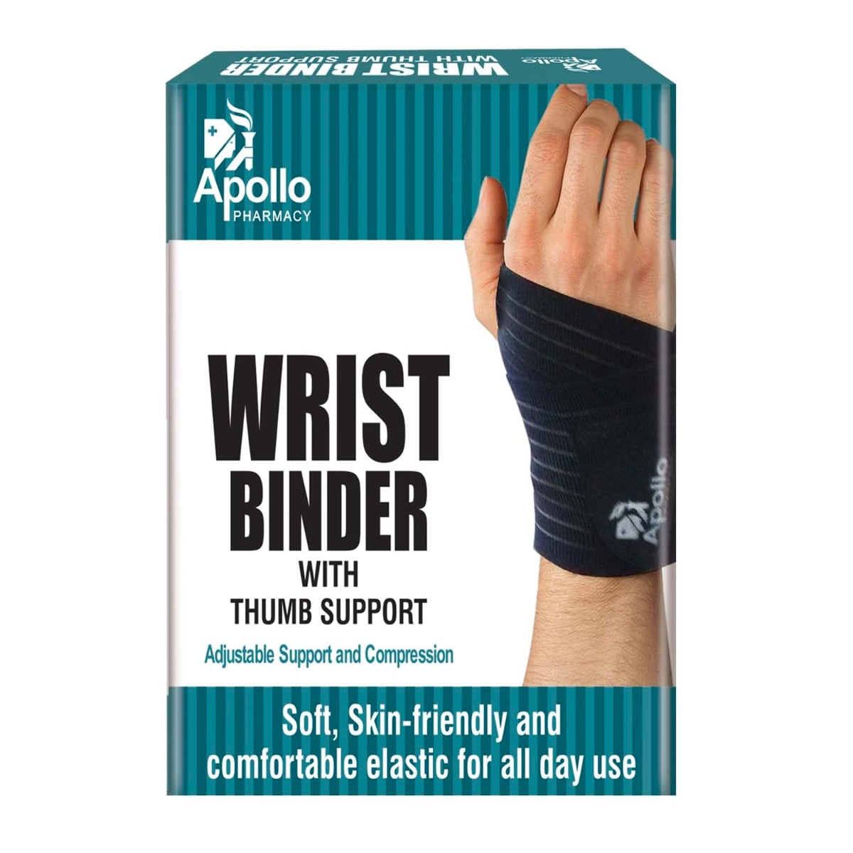 Apollo Pharmacy Wrist Binder With Thumb Support, 1 Count, Pack of 1