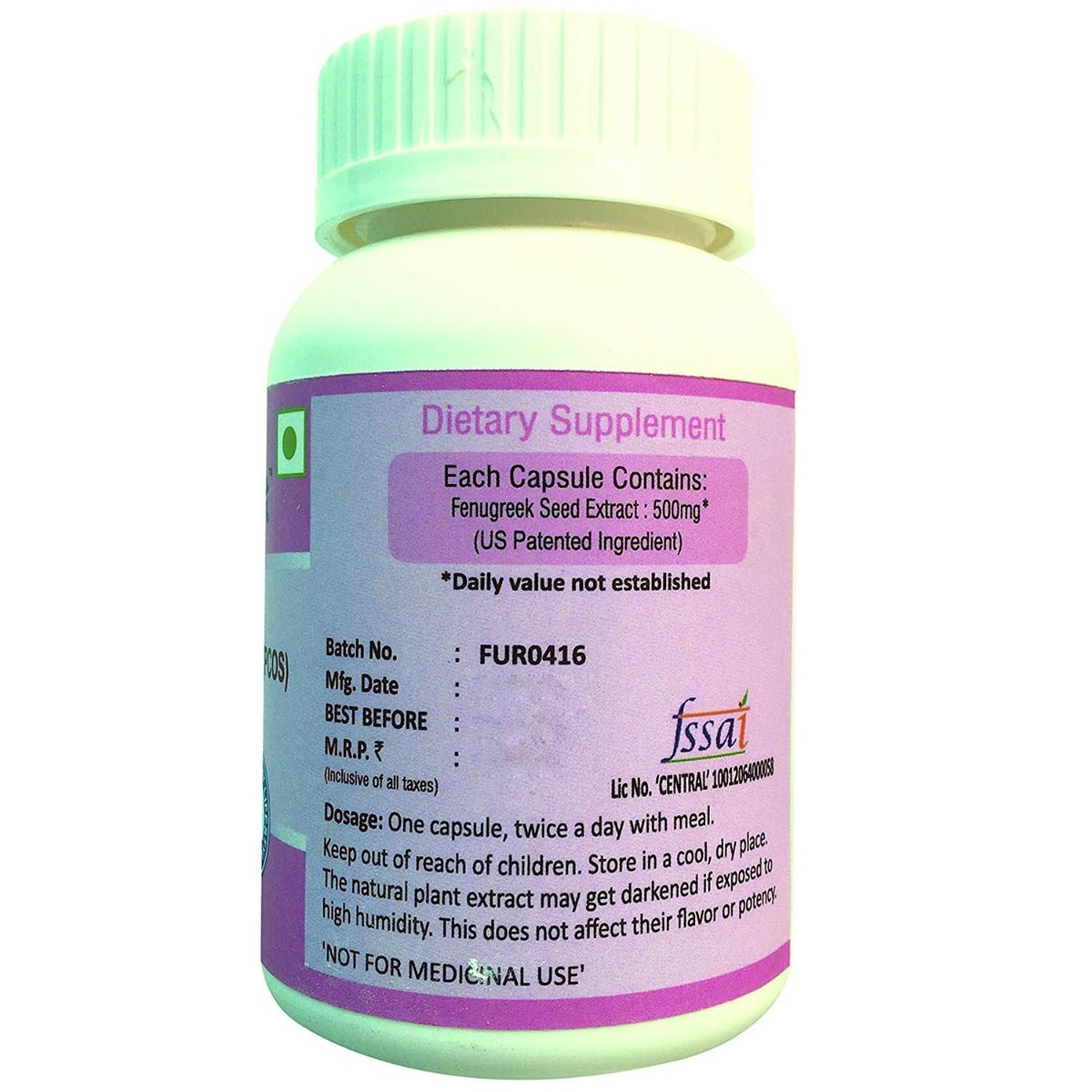 Furocyst Pcos Support, 60 Capsules, Pack of 1