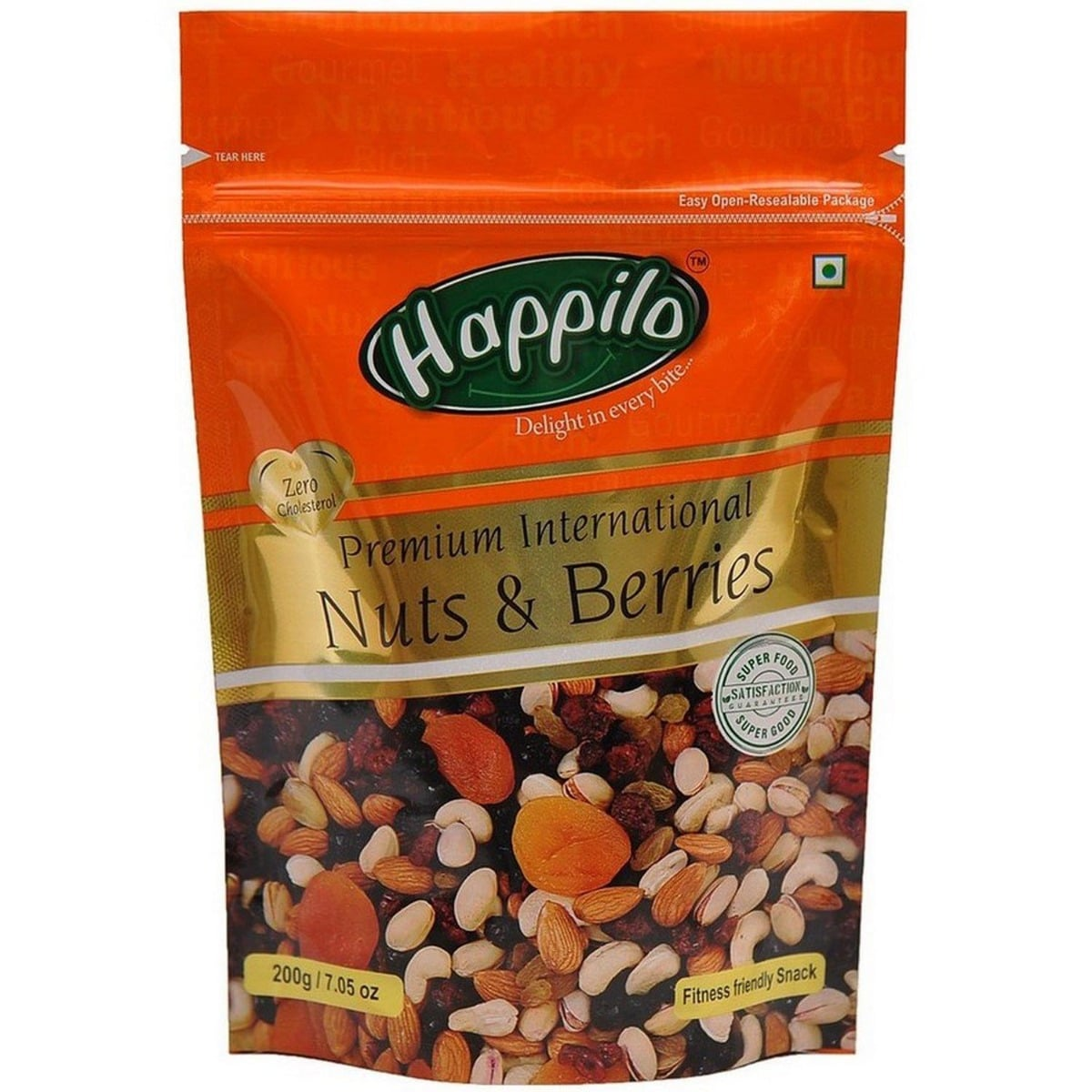 Happilo Premium International Nuts & Berries, 200 gm, Pack of 1