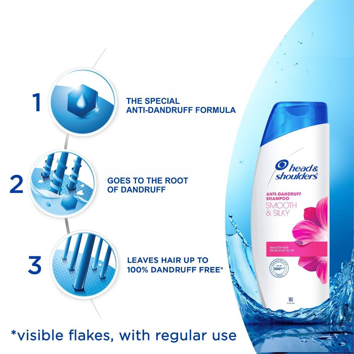 Head & Shoulders Anti-Dandruff Smooth & Silky Shampoo, 72ml, Pack of 1