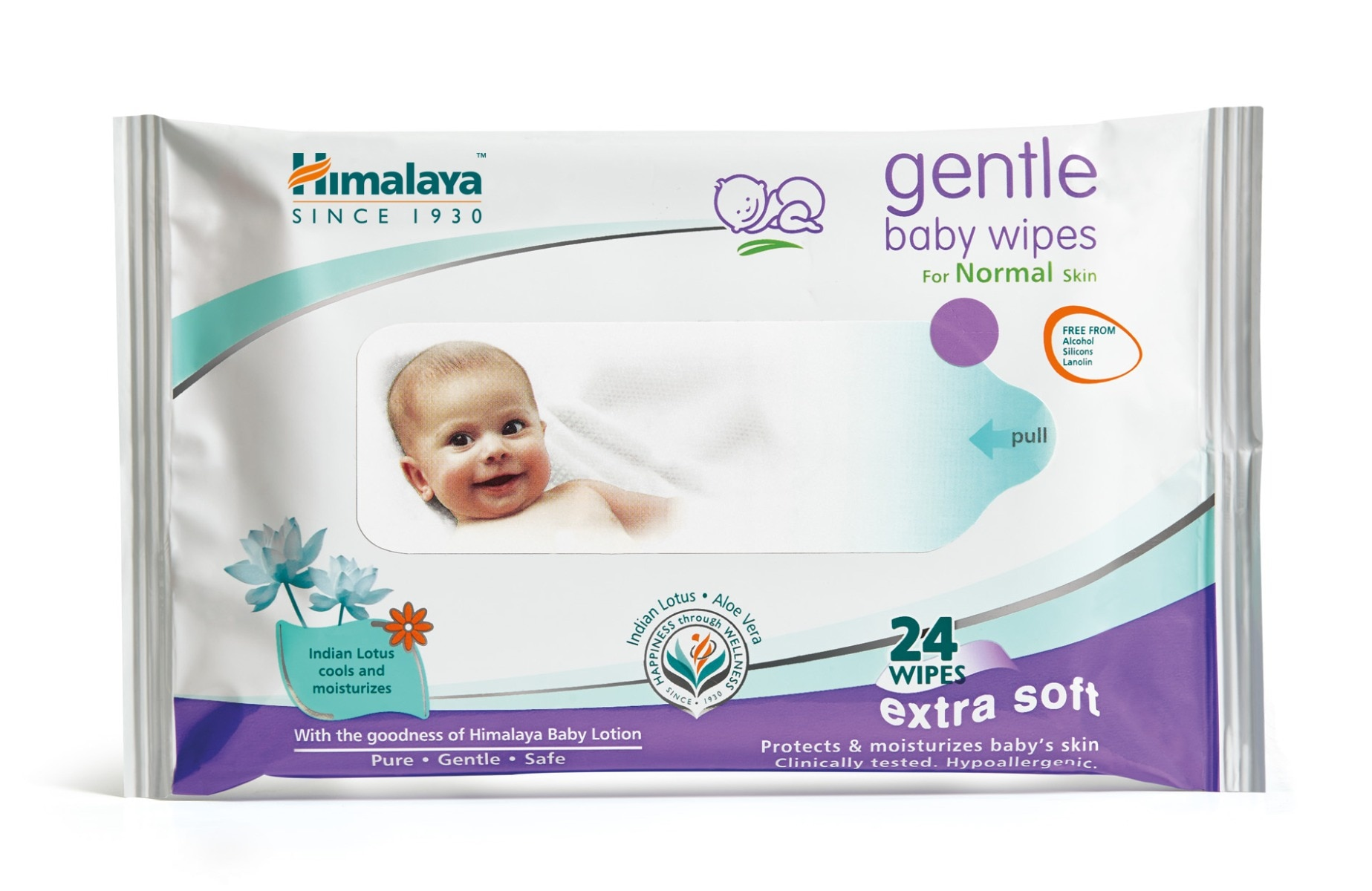 Himalaya Gentle Baby Wipes, 24 Count, Pack of 1