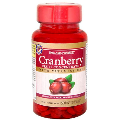 Holland & Barrett Cranberry Fruit Concentrate, 50 Tablets, Pack of 1