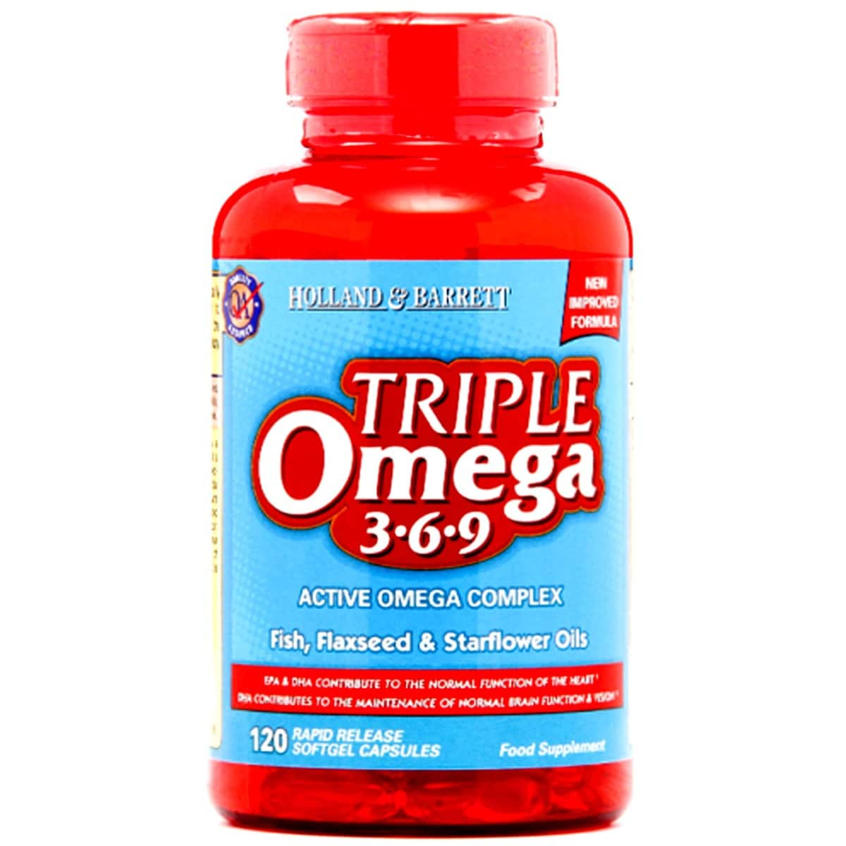 Holland & Barrett Triple Omega 3-6-9, 120 Capsules, Pack of 1