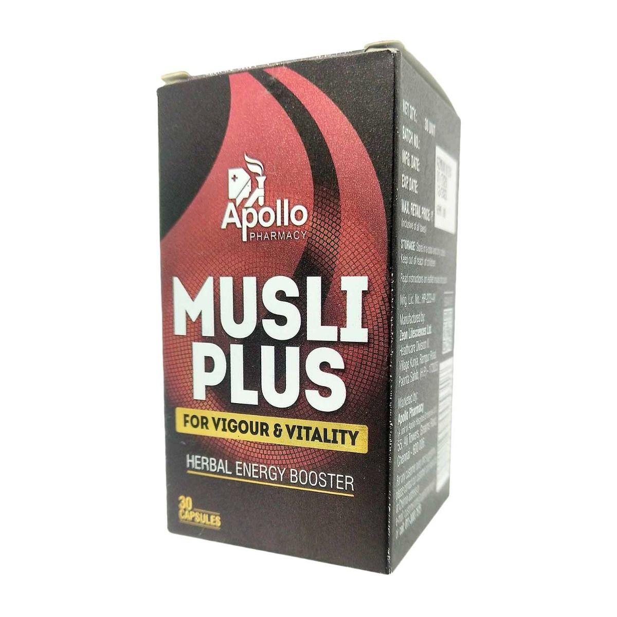 Apollo Pharmacy Musli Plus, 30 Capsules, Pack of 1