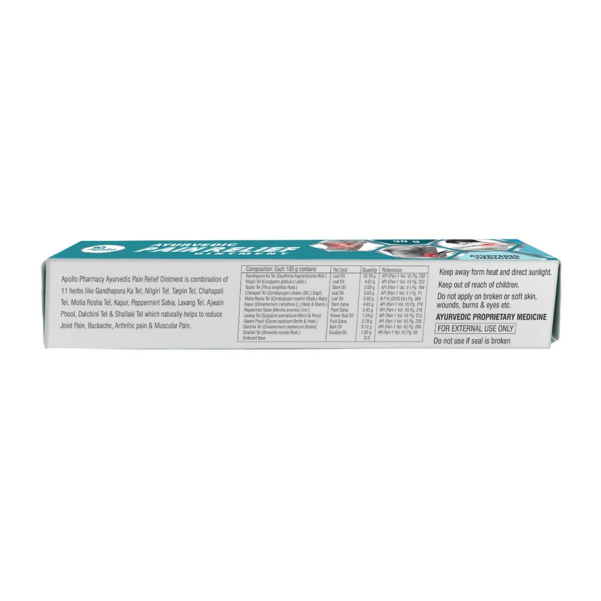 Apollo Pharmacy Ayurvedic Pain Relief Ointment, 30 gm, Pack of 1
