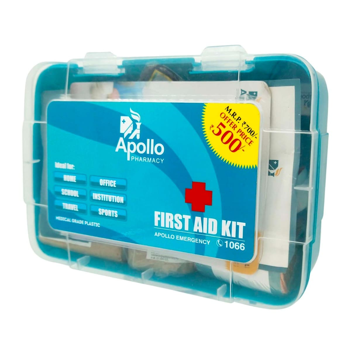 Apollo Pharmacy First Aid Kit, 1 Count, Pack of 1