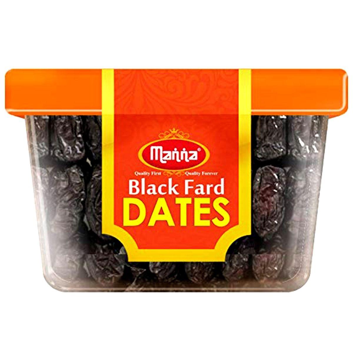Manna Black Fard Dates, 180 gm, Pack of 1