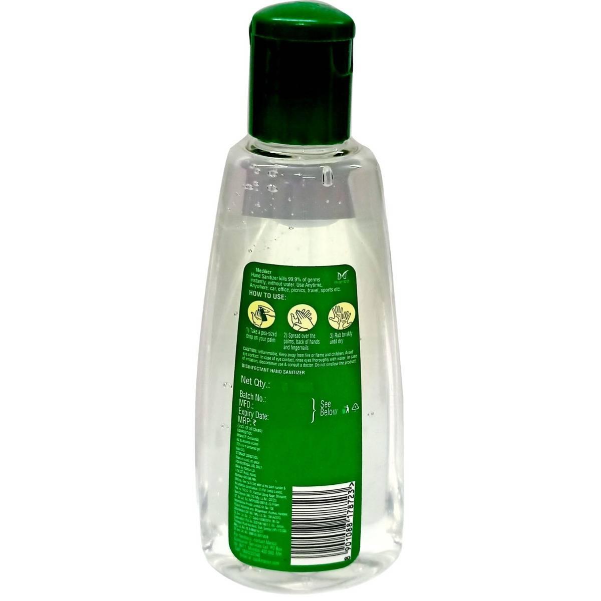 Mediker Advanced Hand Sanitizer, 90 ml, Pack of 1