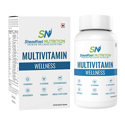 Steadfast Nutrition Multivitamin Wellness, 60 Capsules, Pack of 1