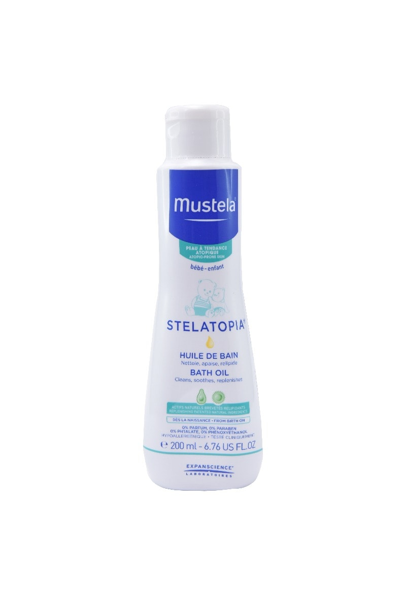 Mustela Stelatopia Baby Bath Oil, 200 ml, Pack of 1