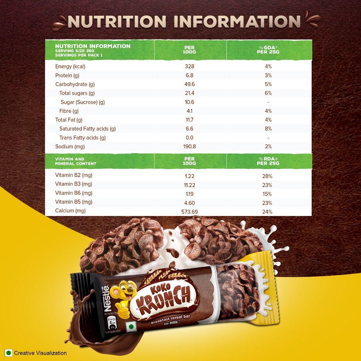 Nestle Koko Crunch Breakfast Cereal Bar, 25 gm, Pack of 1