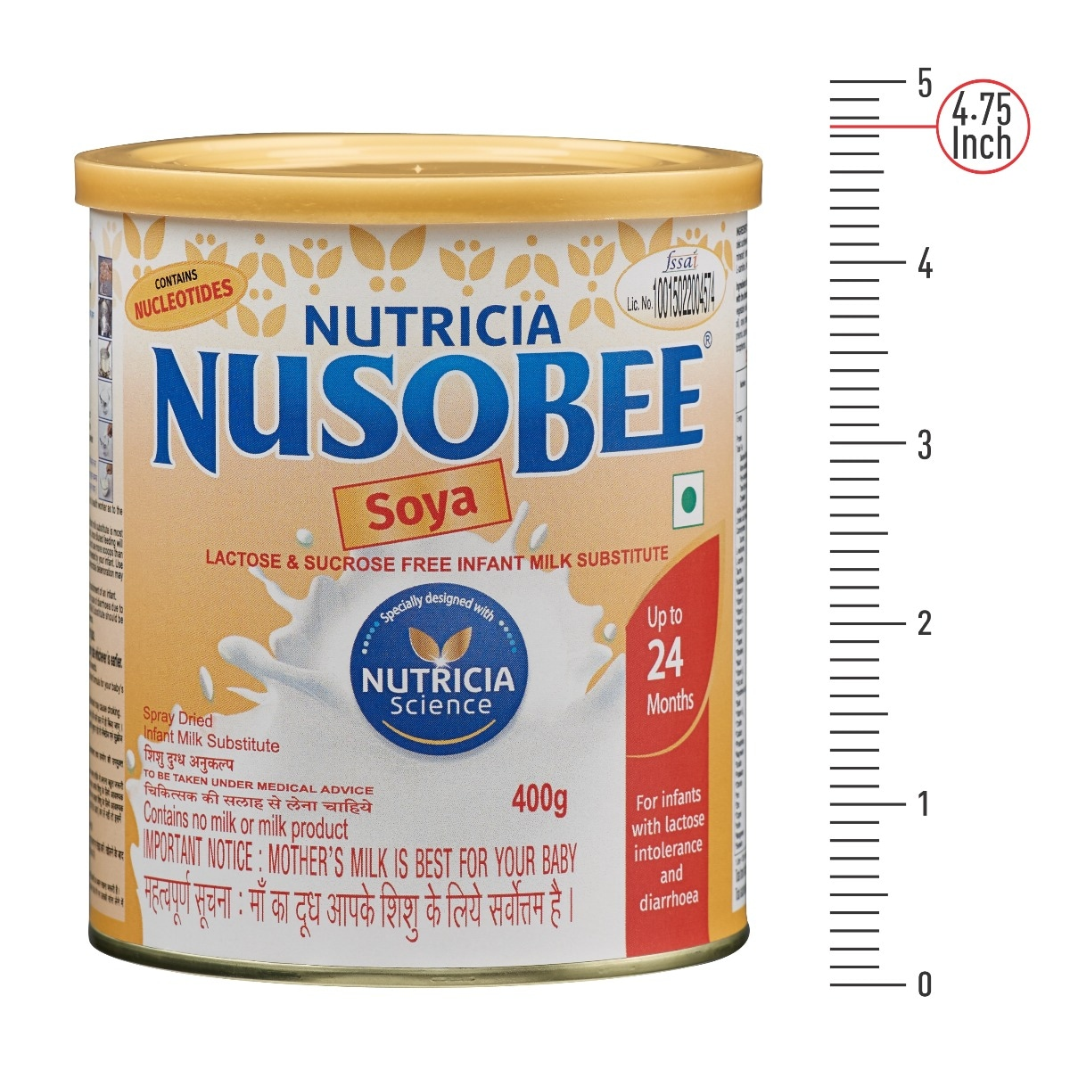 Nutrica Nusobee Soya Infant Formula, 400 gm Tin, Pack of 1