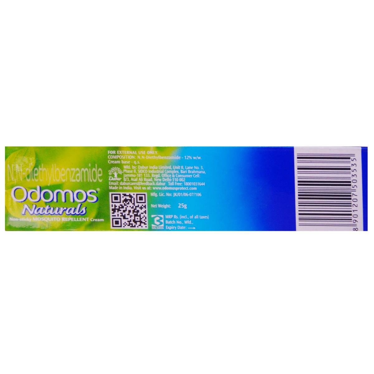 Odomos Naturals Mosquito Repellent Cream, 25 gm , Pack of 1