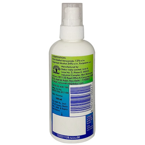 Odomos Naturals Mosquito Repellent Spray, 100 ml, Pack of 1