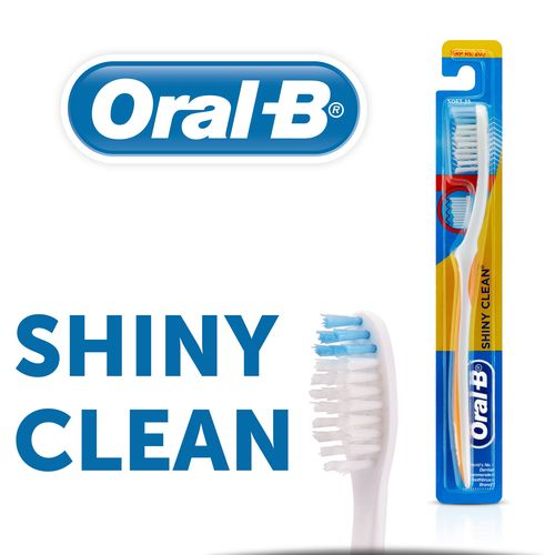 Oral-B Shiny Clean Medium Toothbrush, 1 Count, Pack of 1