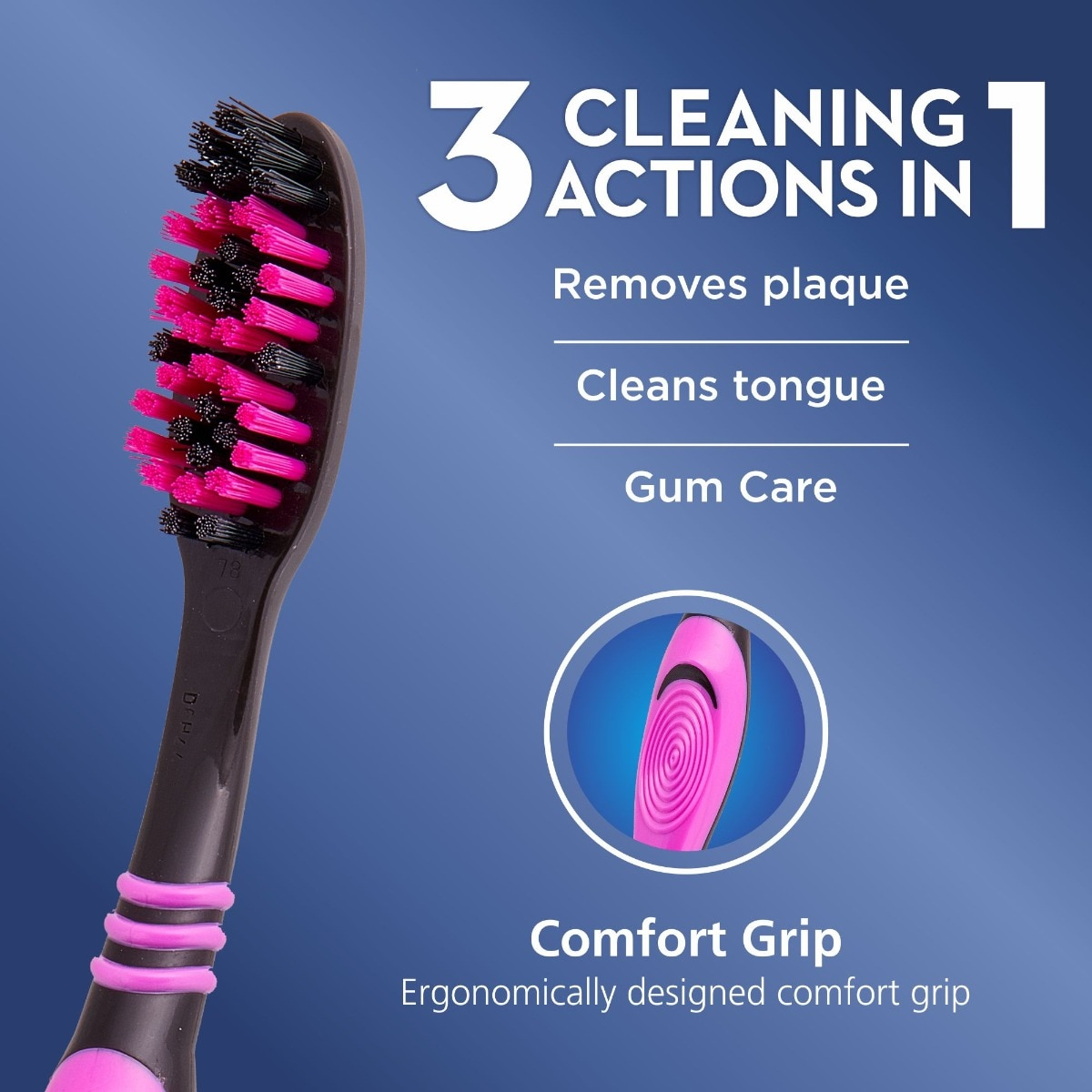 Oral-B Cavity Defense 123 Black Soft Toothbrush, 4 Count (Buy 4 @ Rs.99), Pack of 1