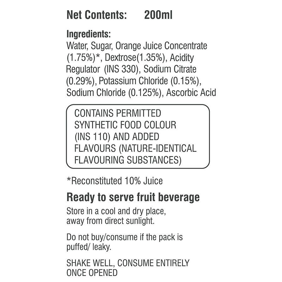 Prolyte Rehydrate Orange Drink, 200 ml, Pack of 1 Liquid