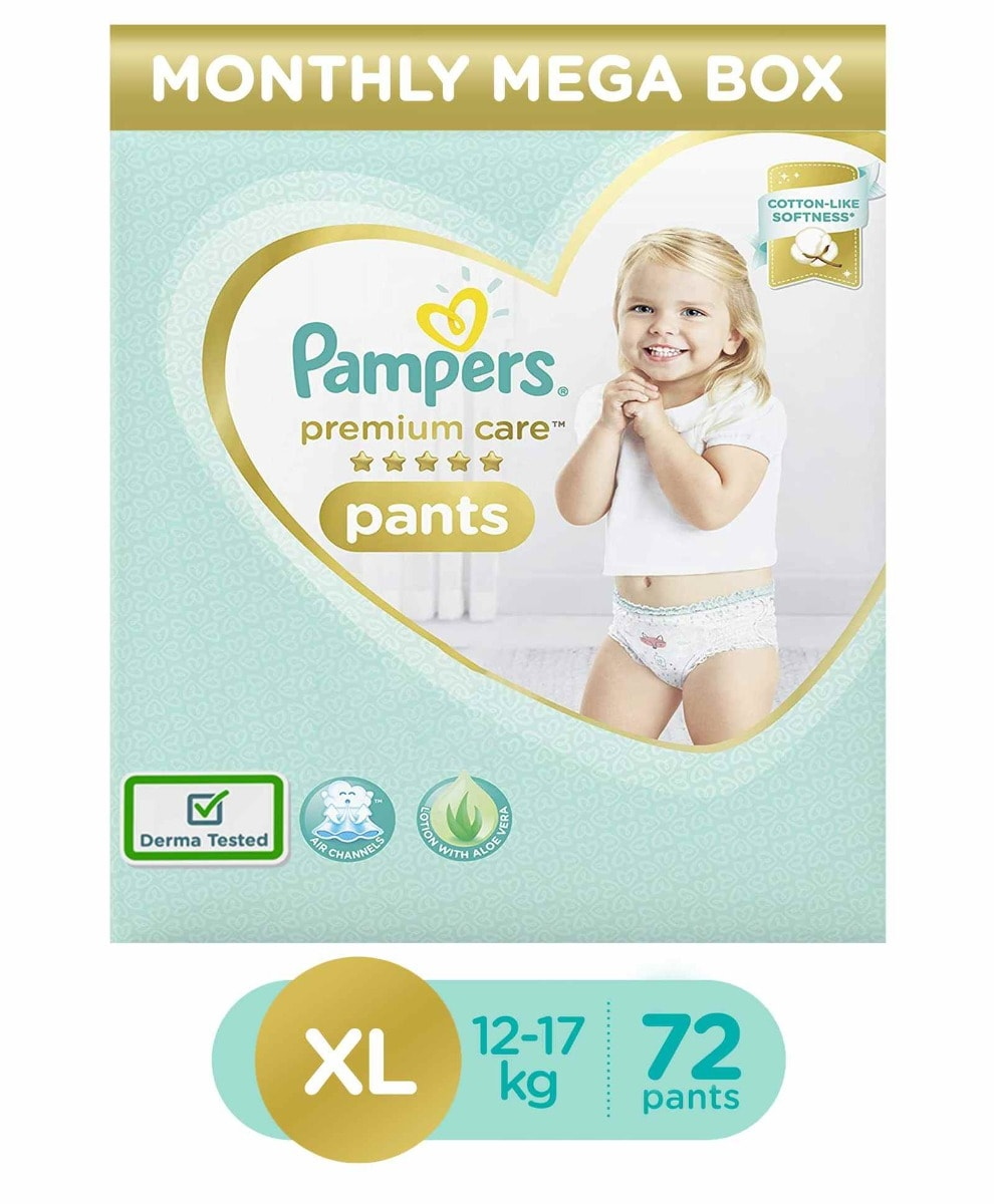 Pampers Premium Care Diaper Pants XL, 72 Count, Pack of 1