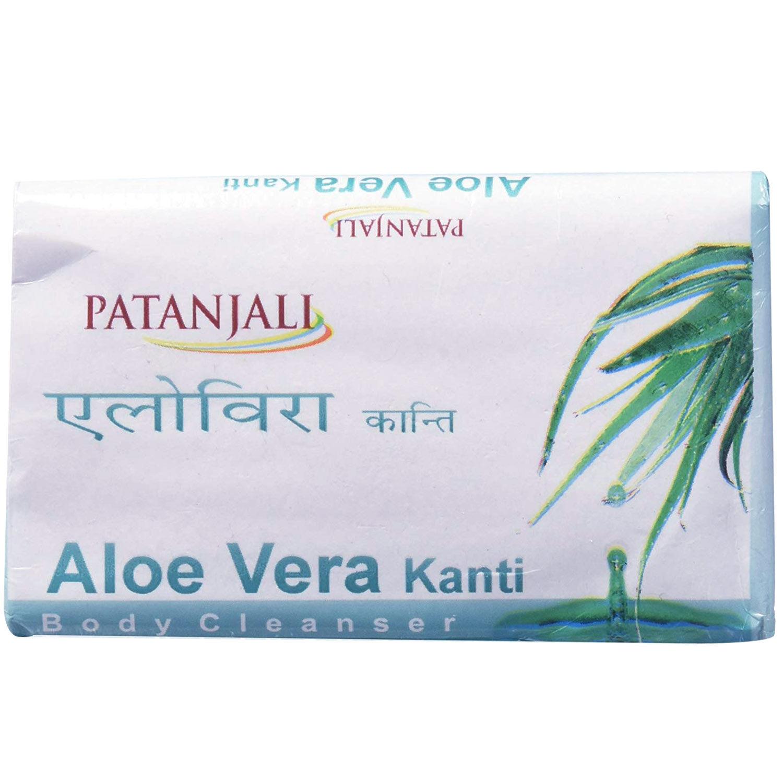 Patanjali Aloe Vera Kanti Body Cleanser Soap, 75 gm, Pack of 1