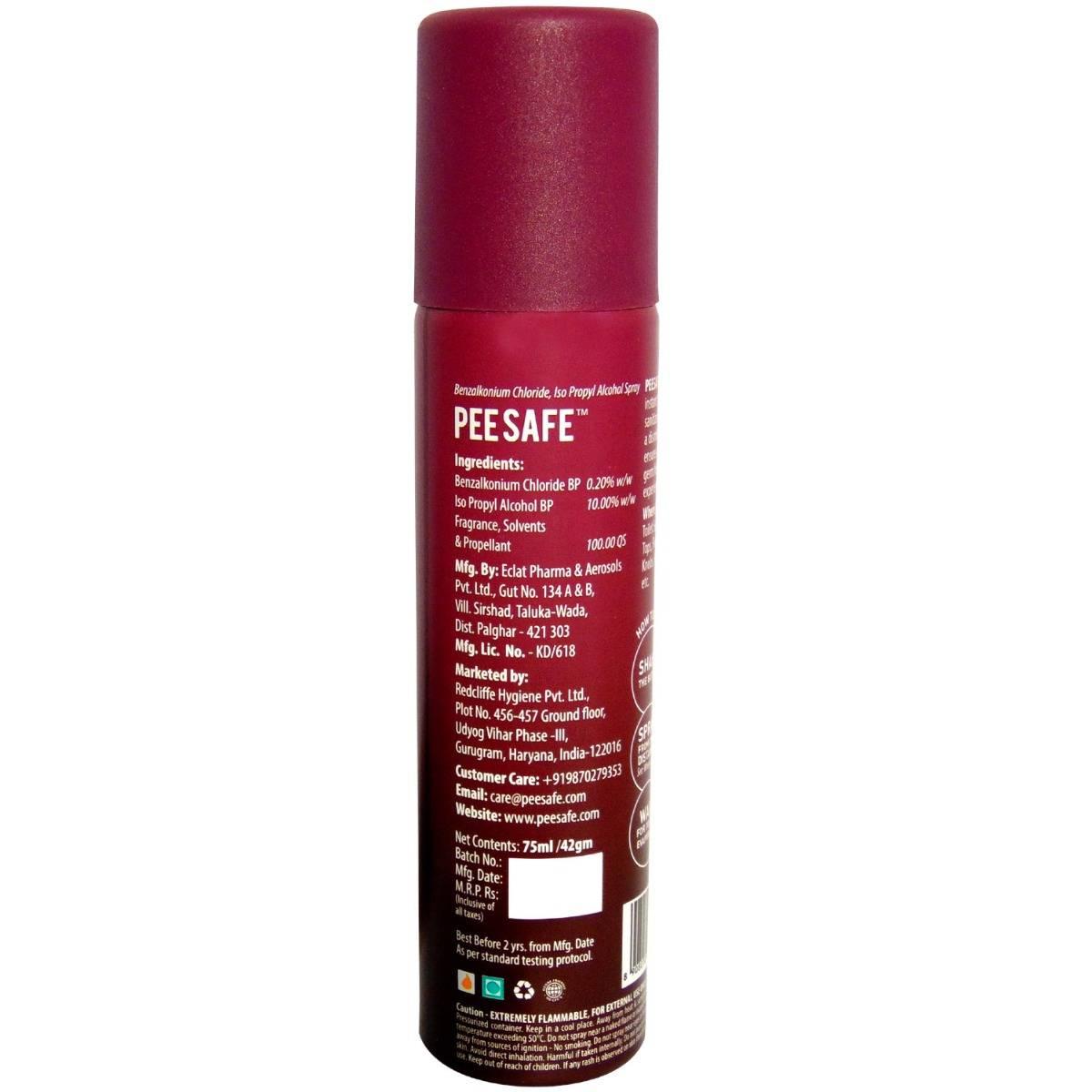 Pee Safe Lavender Toilet Seat Sanitizer Spray, 75 ml, Pack of 1