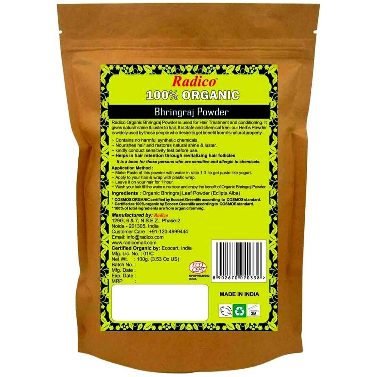 Radico Organic Bhringraj Powder, 100 gm, Pack of 1