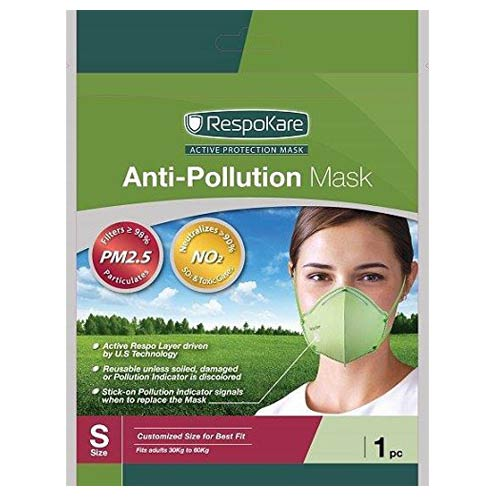 Respokare Anti Pollution Mask Small, Pack of 1