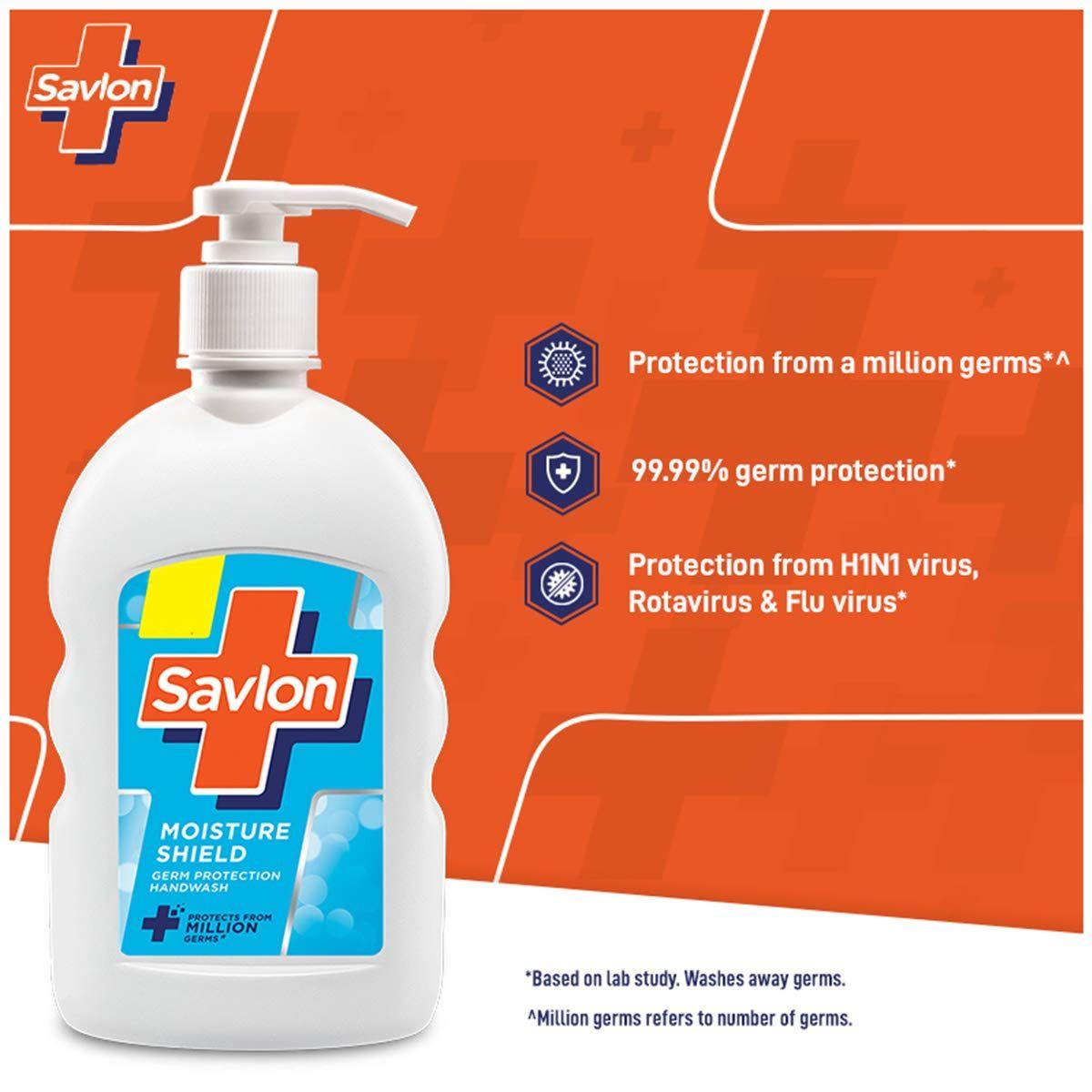 Savlon Moisture Shield Germ Protection Handwash, 200 ml, Pack of 1