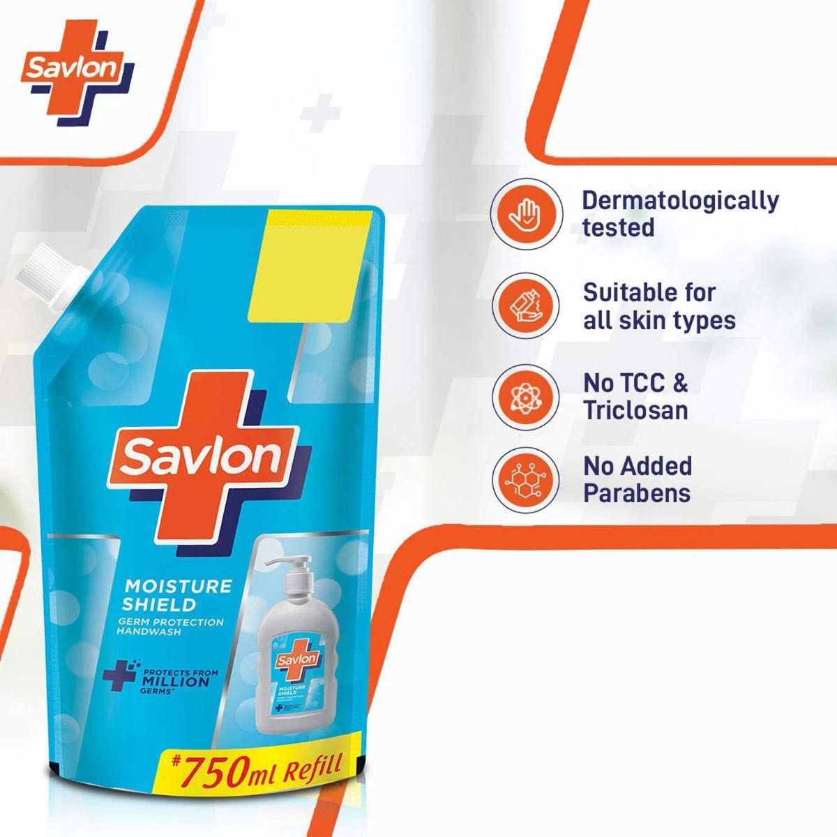 Savlon Moisture Shield Germ Protection Handwash, 750 ml Refill Pack, Pack of 1