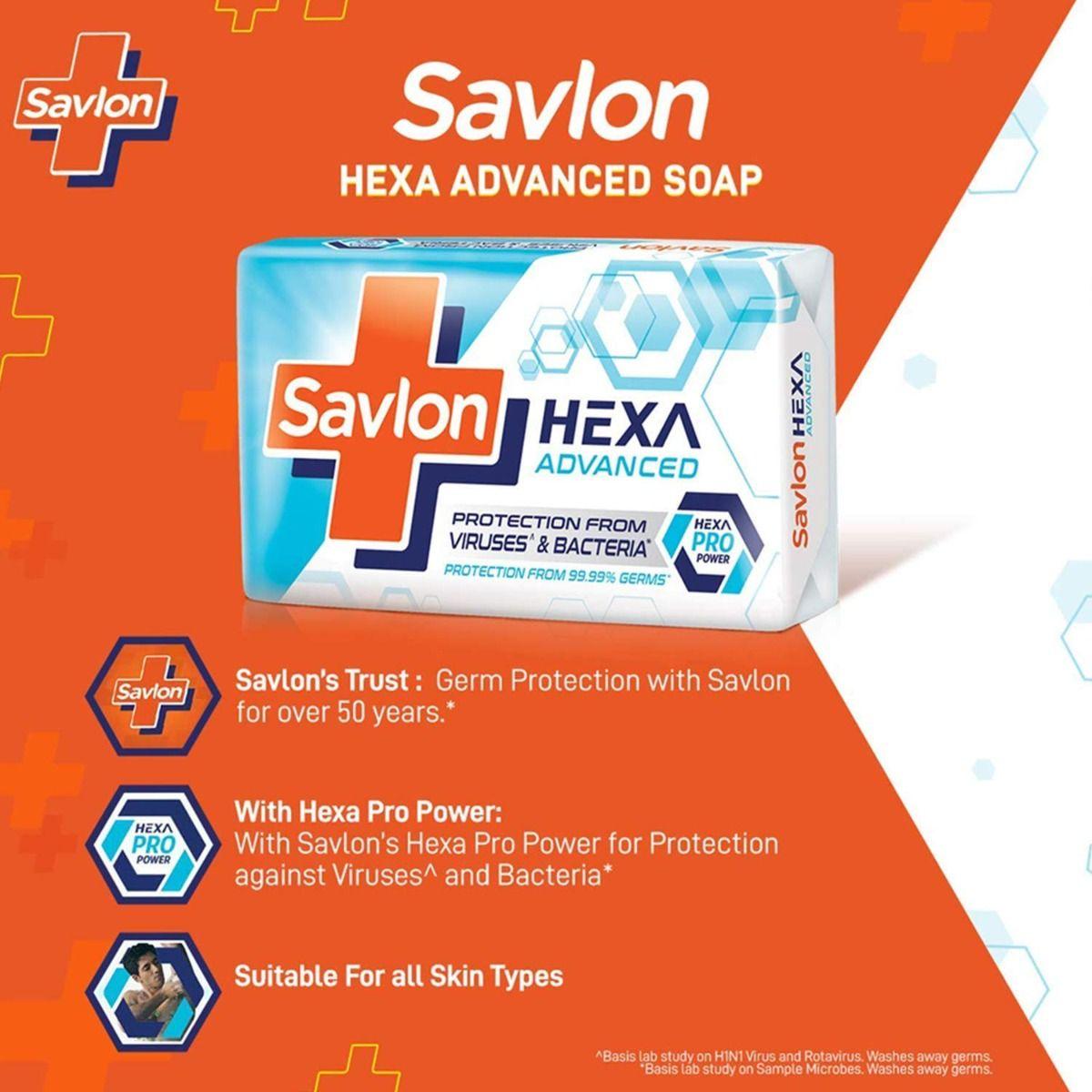Savlon Hexa Advanced Soap, 75 gm, Pack of 1