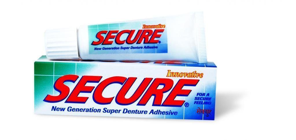 Secure Denture Adhesive Cream, 20 gm, Pack of 1